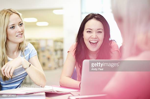 young women talking - bradford stock pictures, royalty-free photos & images