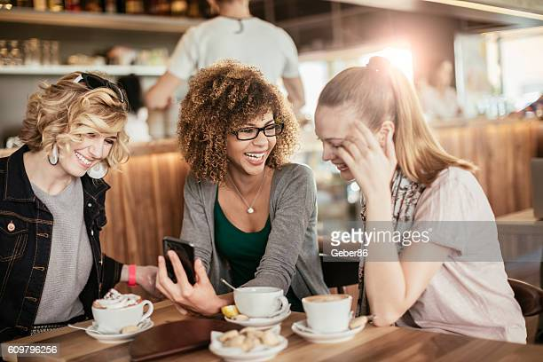 Young women using smart phone