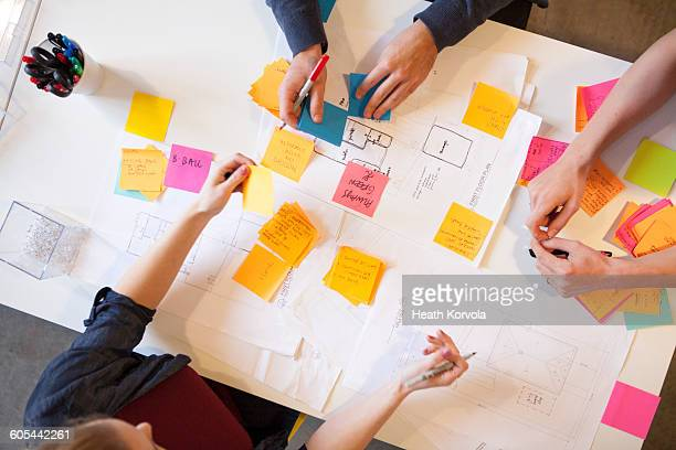 young workers in creative office space. - brainstorming stock pictures, royalty-free photos & images