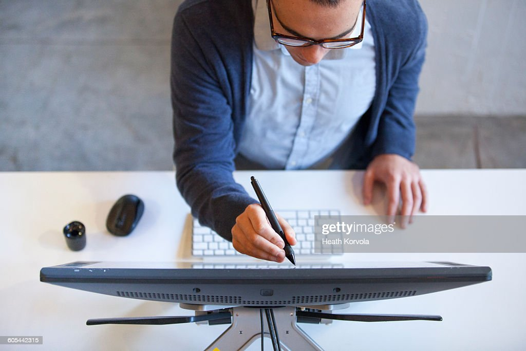 Young workers in creative office space. : Stock Photo