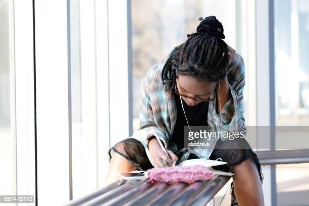 young writer at work - authors stock photos and pictures