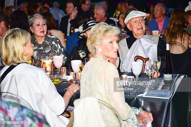 Young Yang Chung Martha Stewart Molly Chappellet and Jack Lenor Larsen at LongHouse Reserve 2016 Jubilee Year Summer Benefit Serious Moonlight at...