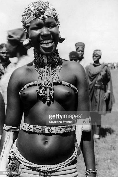 Young Zulu Girl In 1947