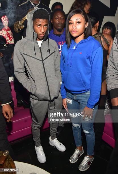 YoungBoy and Jania Jackson attend Keyshia Kaoir's Birthday Celebration at Gold Room on January 14 2018 in Atlanta Georgia