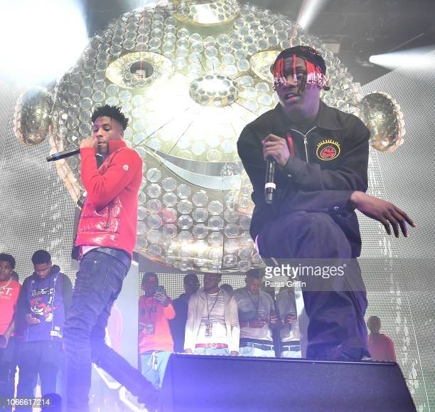 NBA YoungBoy and Lil Yachty perform onstage during Lil Baby Friends concert to promote the new release of Lil Baby's new album Street Gossip at...