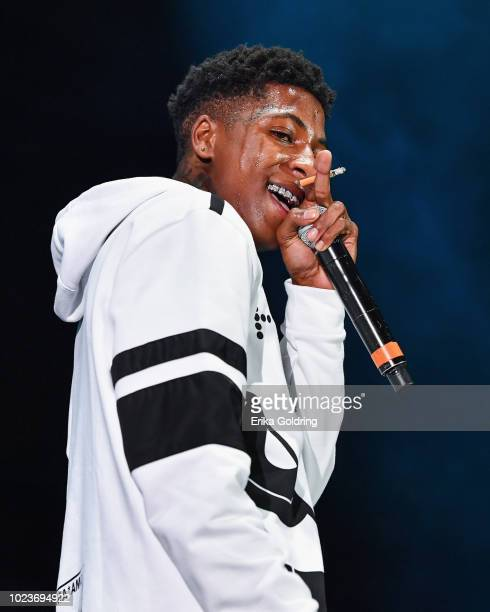 YoungBoy performs during Lil WeezyAna at Champions Square on August 25 2018 in New Orleans Louisiana