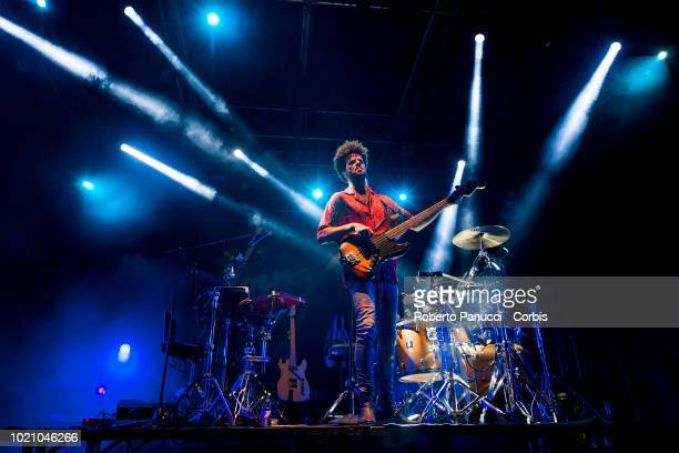 Youngr perform on stage during Ypsigrock Festival on August 10 2018 in Castelbuono Palermo Italy