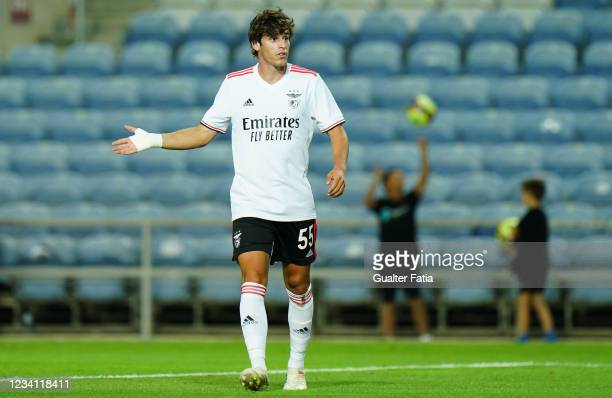 Youngster Paulo Bernardo of SL Benfica during the Pre-Season Friendly match between SL Benfica and Lille at Estadio Algarve on July 22, 2021 in...