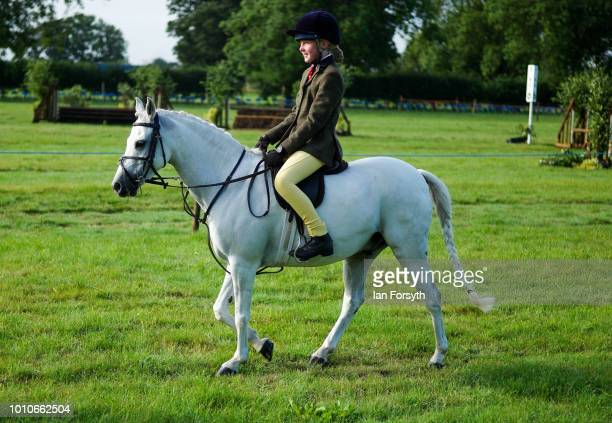 A youngster warms up with her pony during 152nd the Ryedale Country Show on July 31 2018 in Kirbymoorside England Held in Welburn Park near...