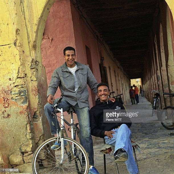Youngsters of Figuigi bored no work and dreaming of emigrating Figuig district Eastern Morocco on October 2007