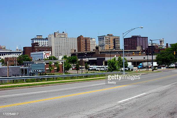 youngstown ohio skyline - ohio stock pictures, royalty-free photos & images