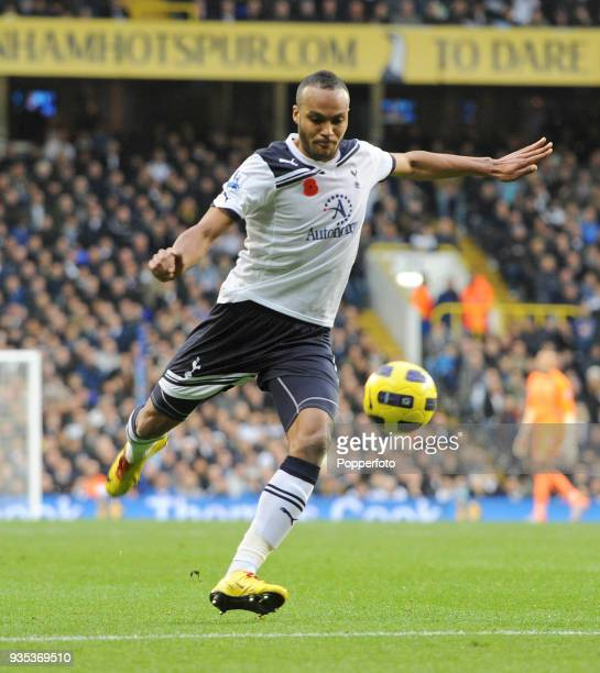 Younis Kaboul of Tottenham Hotspur in action during the Barclays Premier League match between Tottenham Hotspur and Blackburn Rovers at White Hart...