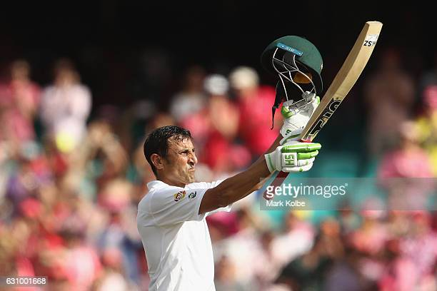Younis Khan of Pakistan celebrates his century during day three of the Third Test match between Australia and Pakistan at Sydney Cricket Ground on...