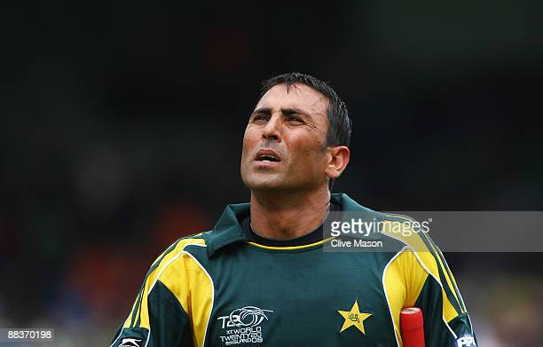 Younis Khan of Pakistan looks on during the ICC World Twenty20 Group B match between Pakistan and the Netherlands at Lord's on June 9 2009 in London...