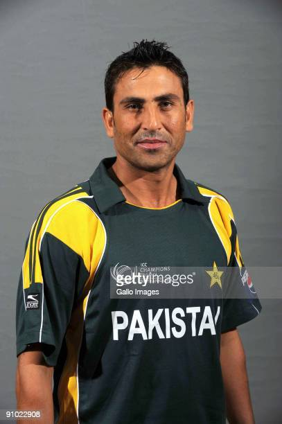Younis Khan poses during the ICC Champions photocall session of Pakistan at Sandton Sun on September 19 2009 in Sandton South Africa Photo by Lee...