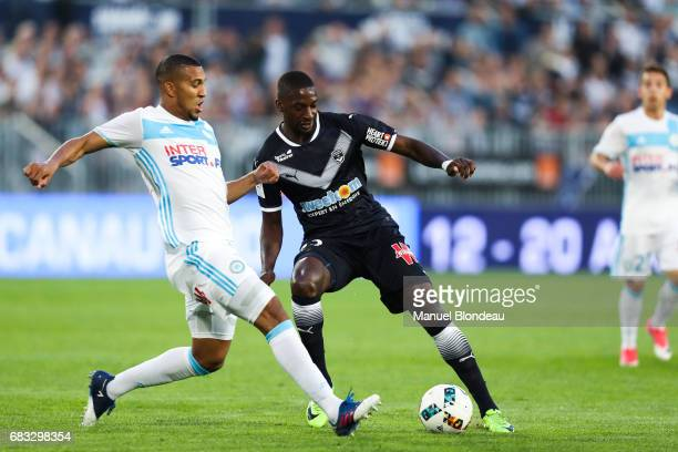 Younousse Sankhare of Bordeaux and William Vainqueur of Marseille during the Ligue 1 match between Girondins de Bordeaux and Olympique de Marseille...