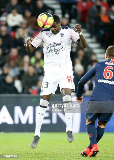 Younousse Sankhare of Bordeaux during the french Ligue 1 match between Paris SaintGermain and Girondins de Bordeaux at Parc des Princes on February 9...