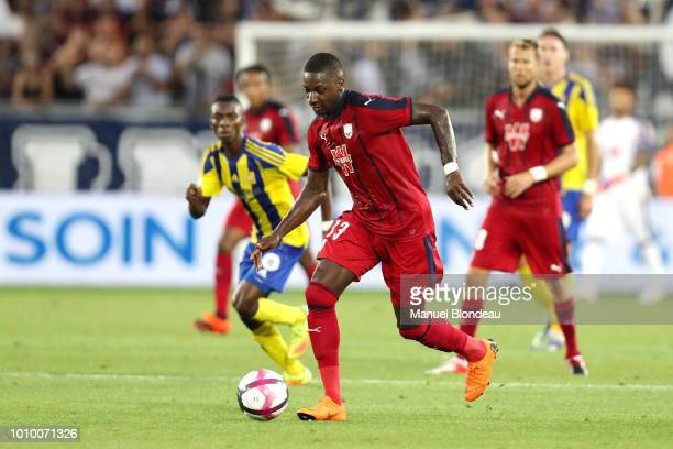 Younousse Sankhare of Bordeaux during the qualifying second round of the Europa League between Bordeaux and Ventspils at Stade Matmut Atlantique on...
