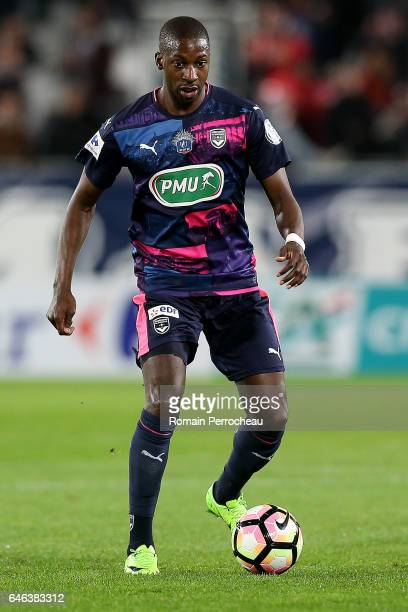 Younousse Sankhare of Bordeaux in action during a French cup match between Bordeaux and Lorient at Stade Matmut Atlantique on February 28 2017 in...