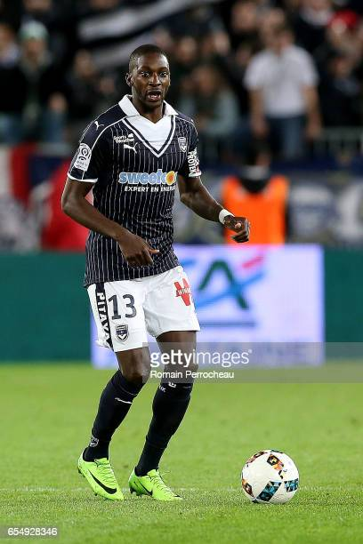 Younousse Sankhare of Bordeaux in action during the French Ligue 1 match between Bordeaux and Montpellier at Stade Matmut Atlantique on March 18 2017...