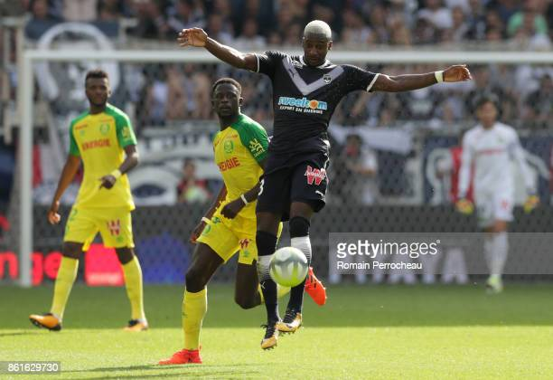 Younousse Sankhare of Bordeaux in action during the Ligue 1 match between FC Girondins de Bordeaux and FC Nantes at Stade Matmut Atlantique on...