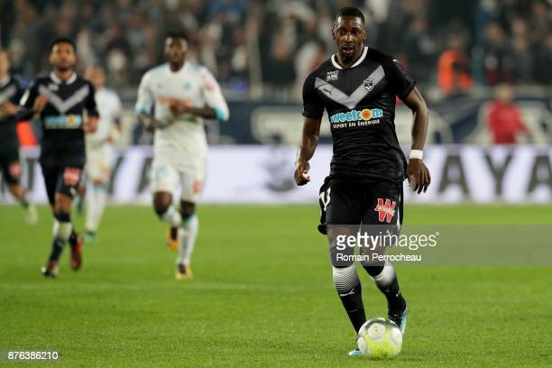 Younousse Sankhare of Bordeaux in action during the Ligue 1 match between FC Girondins de Bordeaux and Olympique Marseille at Stade Matmut Atlantique...