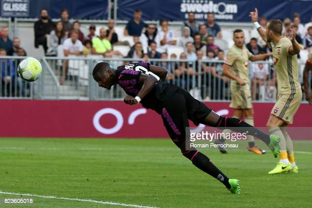 Younousse Sankhare of Bordeaux scores a goal during the UEFA Europa League qualifying match between Bordeaux and Videoton at Stade Matmut Atlantique...