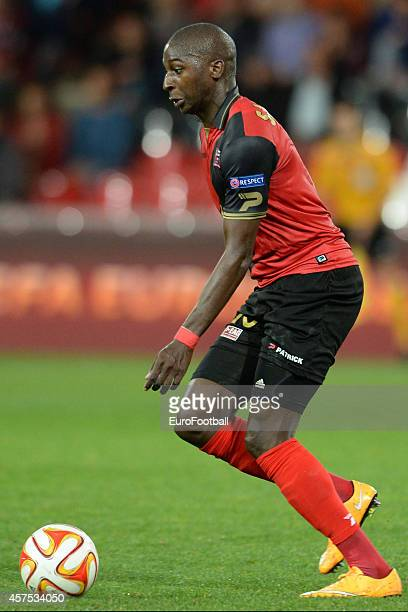 Younousse Sankhare of EA Guingamp in action during the UEFA Europa League group K match between Guingamp and PAOK on October 2 2014 at the Roudourou...