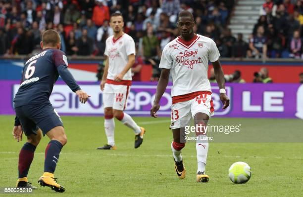 Younousse Sankhare of FC Girondins de Bordeaux in action during the Ligue 1 match between Paris SaintGermain and FC Girondins de Bordeaux at Parc des...