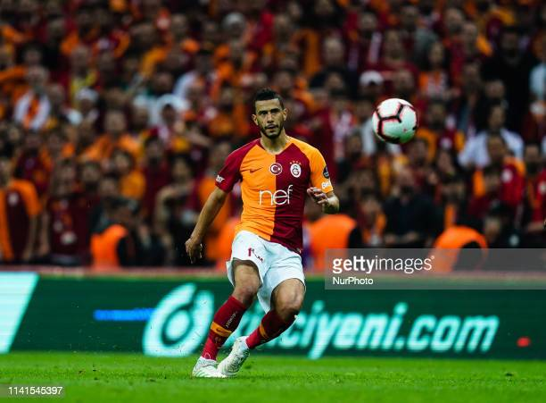 Younès Belhanda of Galatasaray during the Turkish Super Lig match between Galatasaray SK and Besiktas at the Türk Telekom Arena in Istanbul Turkey on...