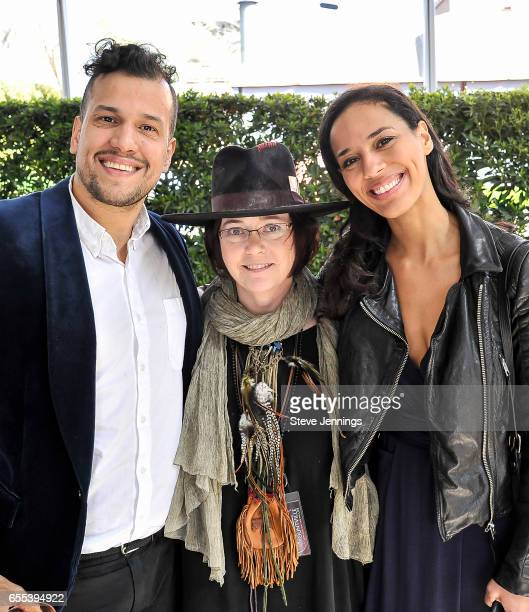 Yountville Live CoFounder Claire Parr poses with Abner Ramirez and Amanda Sudano of Johnnyswim on Day 4 of the 3rd Annual Yountville Live Music Food...