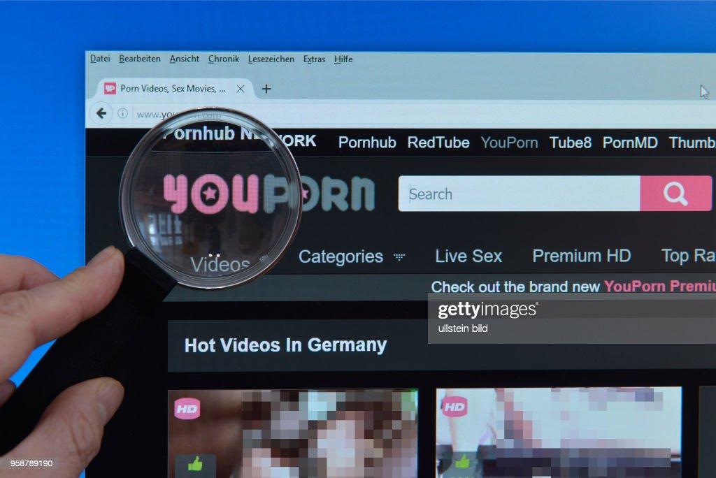 youporn.com, website, Bildschim, Lupe News Photo - Getty