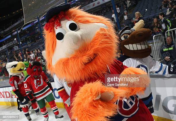 Youppi of the Montreal Canadiens skates during the mascot showdown as part of the 2015 NHL AllStar Weekend at Nationwide Arena on January 24 2015 in...