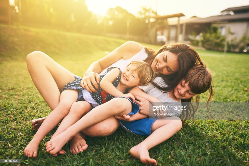 Your affection shapes their happiness for life : Stock Photo