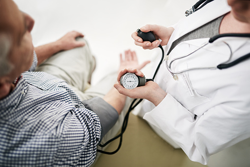 Your blood pressure is a little high... 610449772