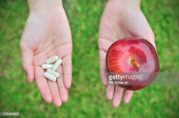 Your Choice Medicine Pills or Apple