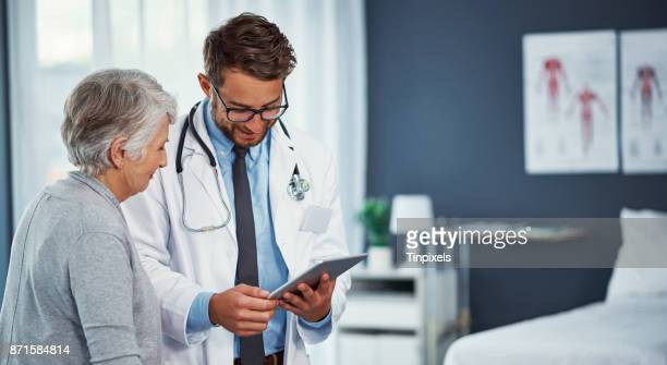 your health has been improving quite well - medical stock photos and pictures
