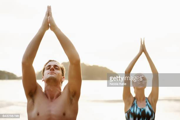 your health is a state of mind - yogi stock photos and pictures