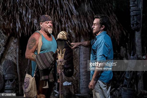 'Your Job is Recon' Jeff Probst extinguishes Paul Wachter's torch at Tribal Council on SURVIVOR Millennials vs Gen X airing Wednesday Oct 5 on the...