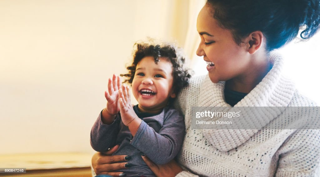 Your laugh is the best sound : Stock Photo