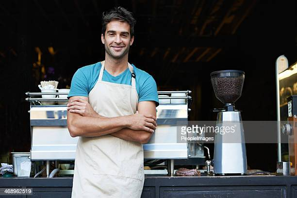 your local barista - apron stock pictures, royalty-free photos & images