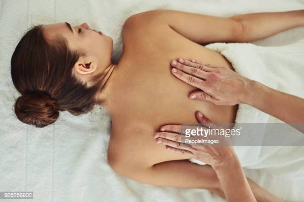 your massage therapist's got your back - massage stock photos and pictures