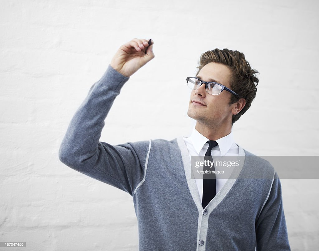 Your message at his fingertips : Stock Photo