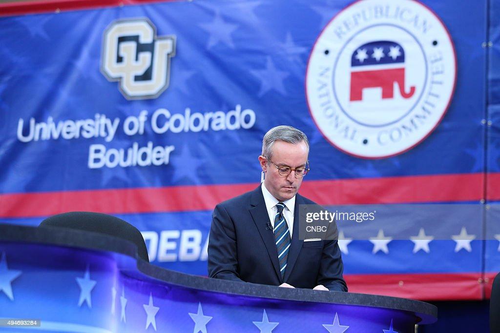 The Republican Presidential Debate? -- Pictured: CNBC ...