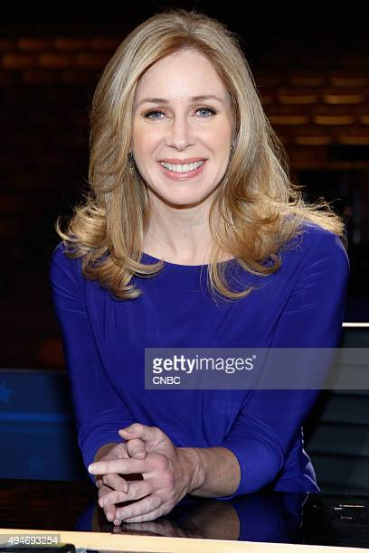 The Republican Presidential Debate Pictured CNBCs Becky Quick coanchor of Squawk Box and one of the moderators of Your Money Your Vote The Republican...
