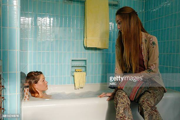 AQUARIUS Your Mother Should Know Episode 111 Pictured Ambyr Childers as Sadie Emma Dumont as Emma Karn