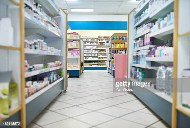 your one stop pharmaceutical shop - pharmacy stock pictures, royalty-free photos & images