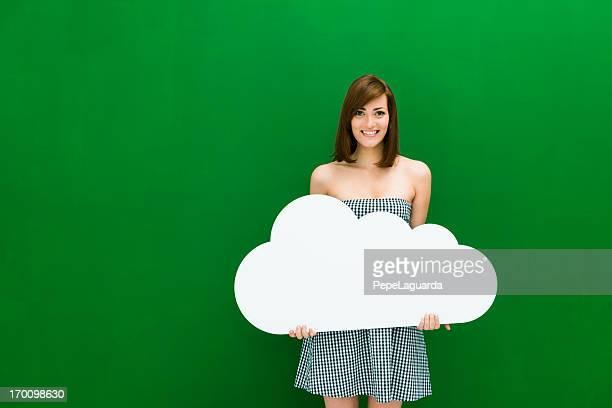 su propia cloud - fondo verde fotografías e imágenes de stock