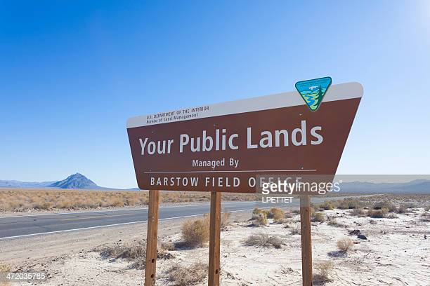 your public lands - barstow stock photos and pictures