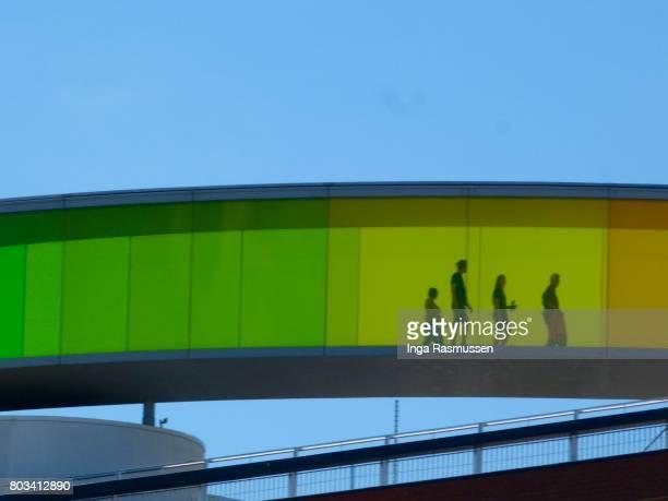 your rainbow panorama, aarhus, denmark - オルフス ストックフォトと画像